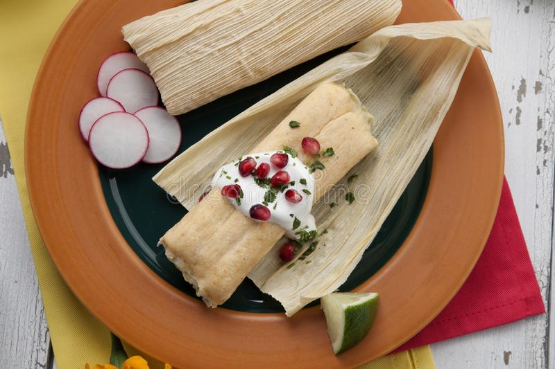 Cheese and Jalapeno Tamales royalty free stock photos