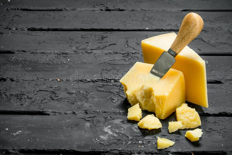 cheese knife parmesan 库存照片