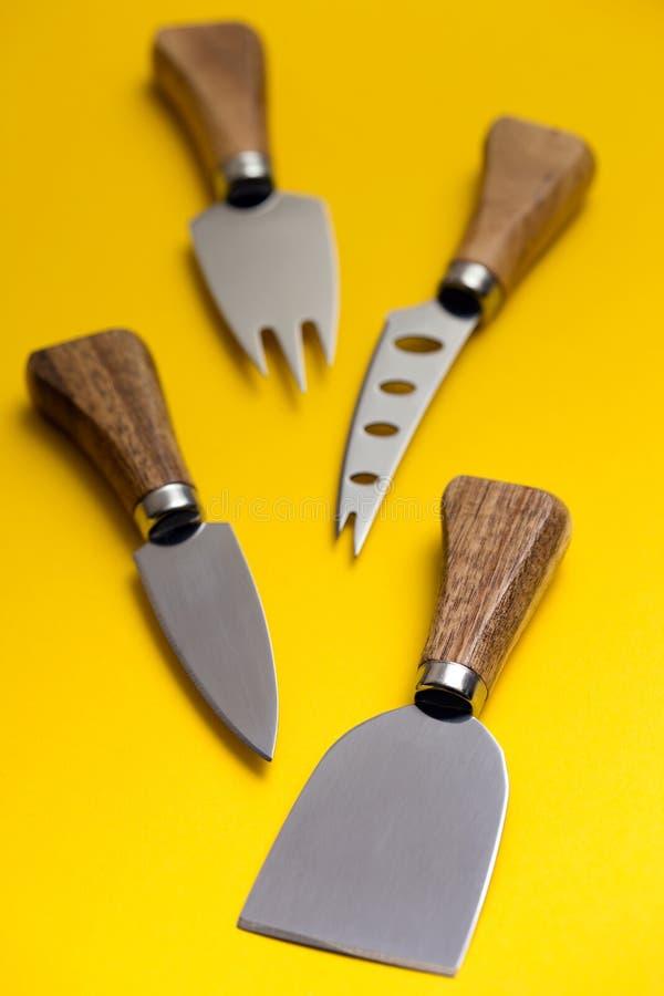 Cheese knife set royalty free stock photo