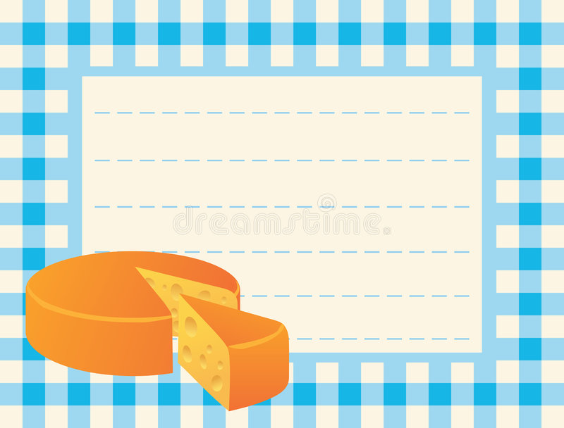 Download Cheese Loaf On Chequered Background Stock Vector - Image: 5383684