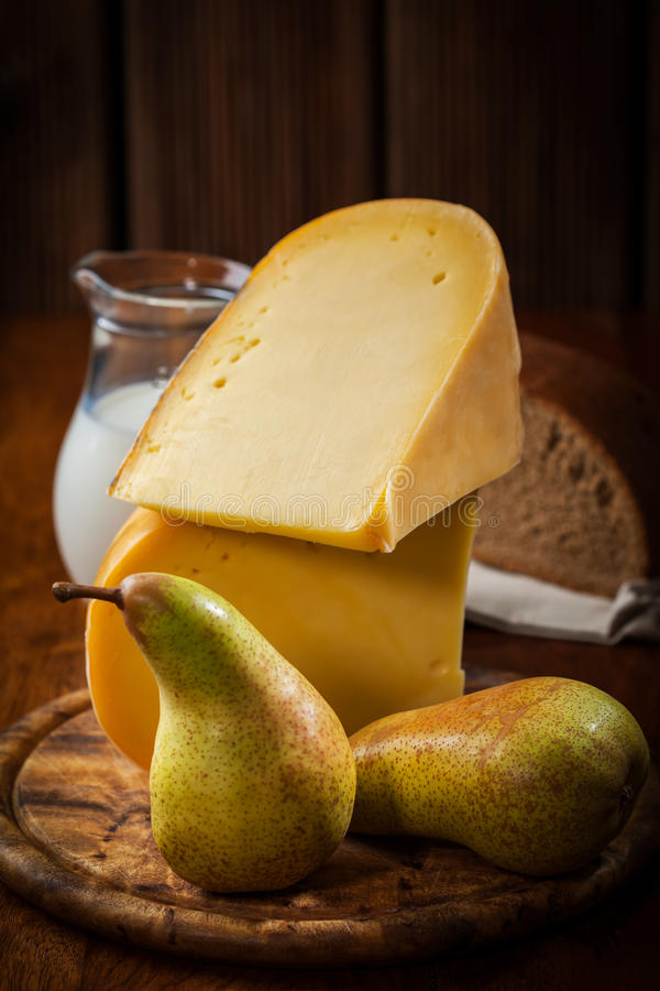 Download Cheese loaf with pears stock photo. Image of culinary - 34529416