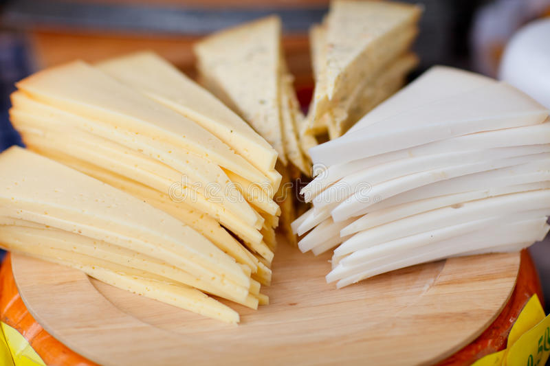 Cheese Market Royalty Free Stock Photography