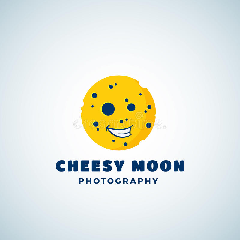 Free Cheese Moon Photography Abstract Vector Sign, Emblem Or Logo Template. Round Laughing Lunar Face Silhouette. Royalty Free Stock Photos - 87648428