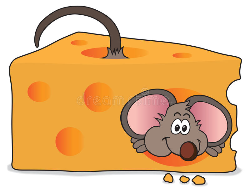 Cheese Mouse stock illustration