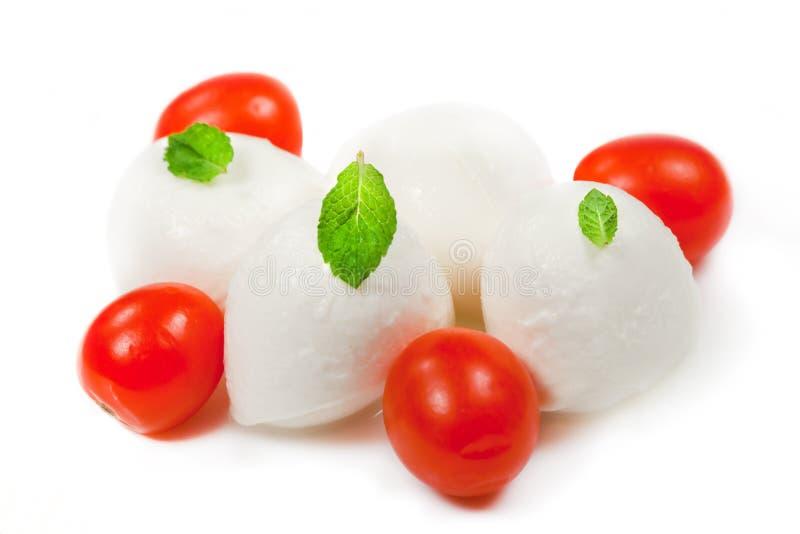 Cheese Mozzarella and tomato stock images