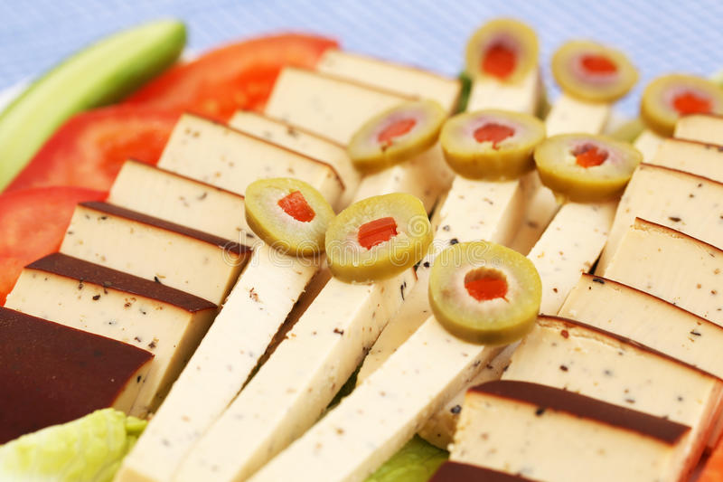 Download Cheese, Olives And Vegetables Stock Image - Image: 31974443