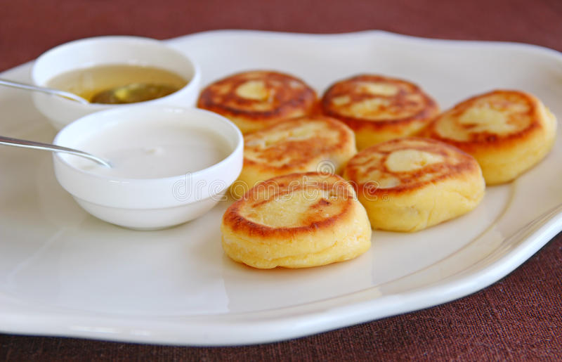 Download Cheese pancakes stock image. Image of honey, cottage - 24409969