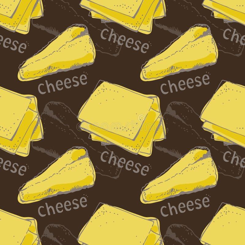 Cheese pattern stock illustration