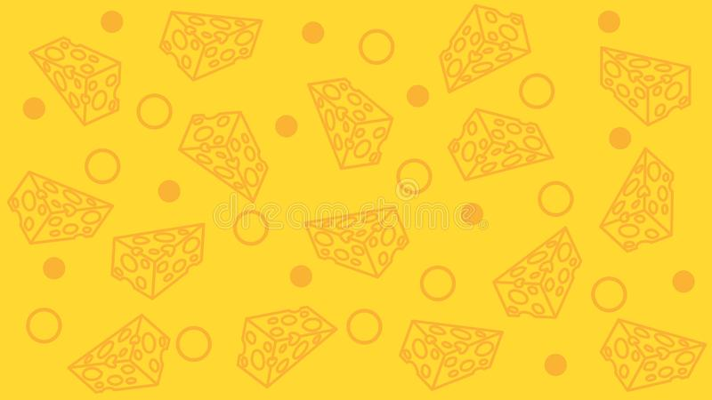 Cheese pattern. seamless background. Very cheese background. royalty free stock photo
