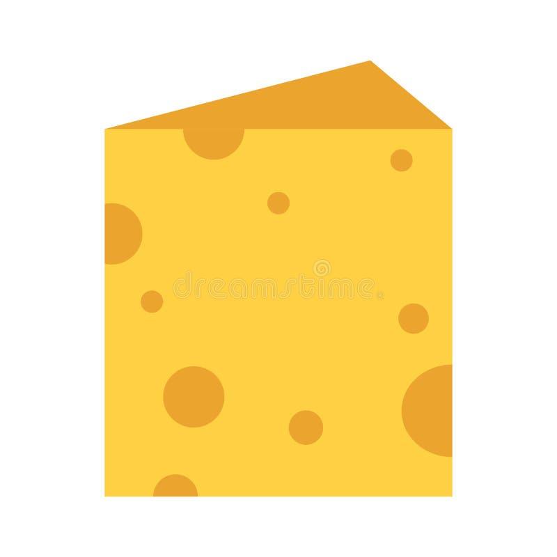 Cheese piece cartoon stock illustration