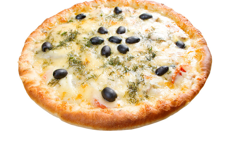 Cheese Pizza with white background, stock photos