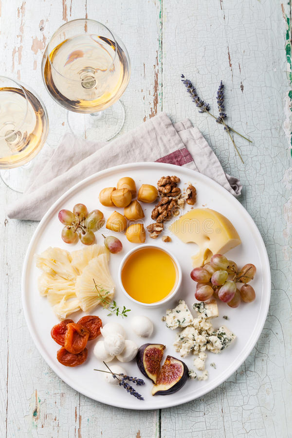 Cheese plate stock photos