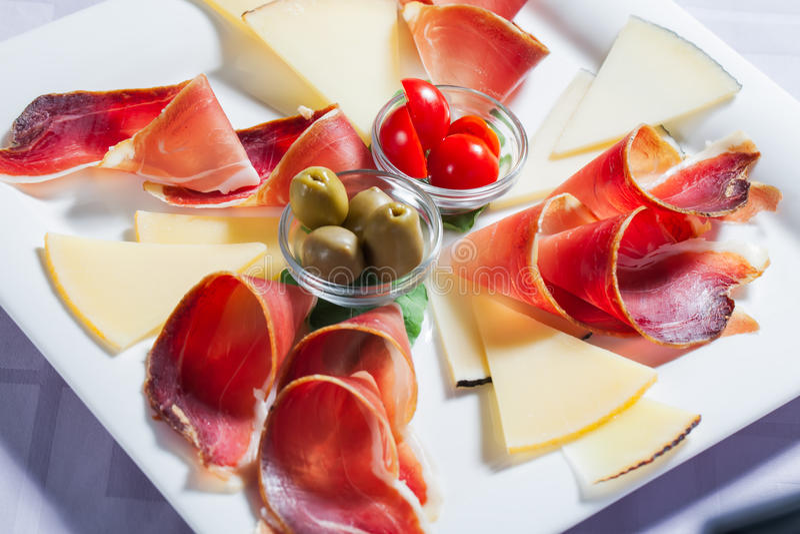 Cheese platter. stock photos