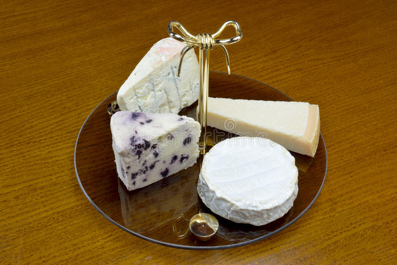 Cheese platter stock image