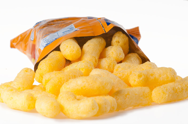 Cheese Puff royalty free stock image
