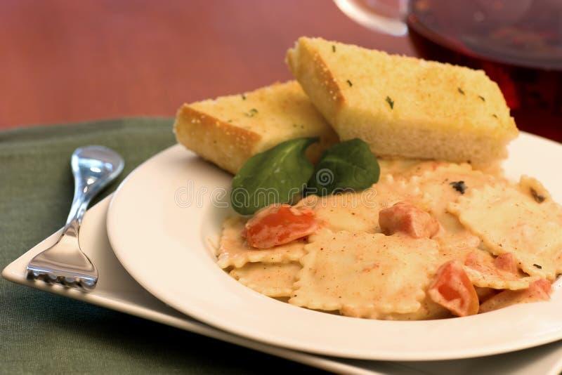 Cheese ravioli royalty free stock photography