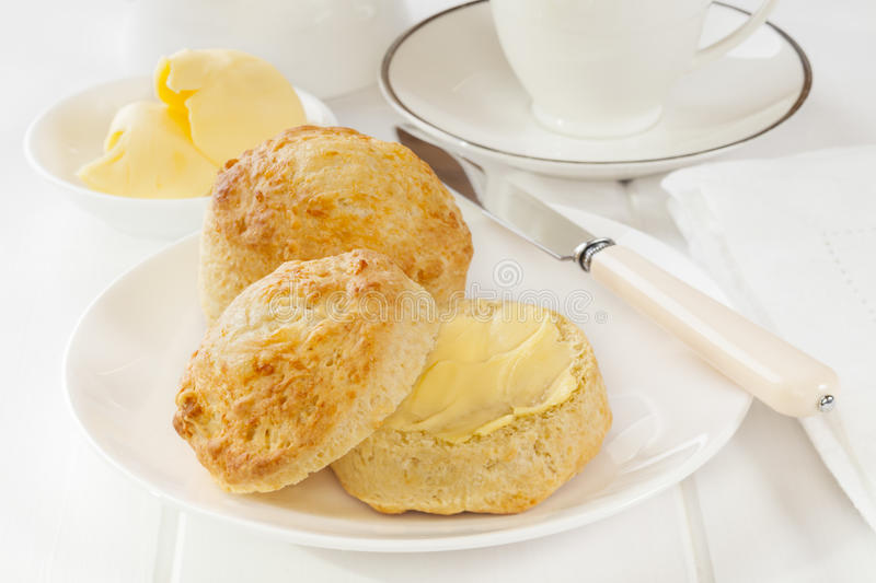Cheese Scones Stock Photo