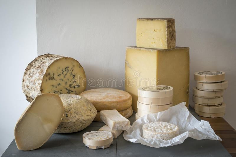 Cheese selection royalty free stock image