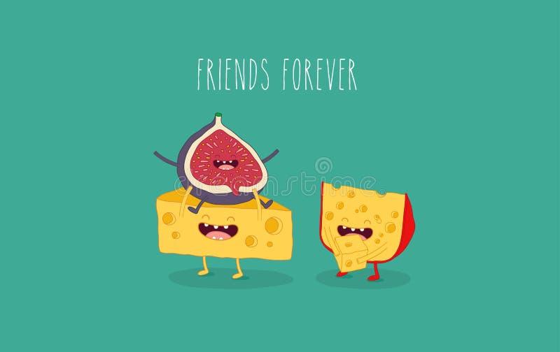 Cheese_set EPS royalty ilustracja