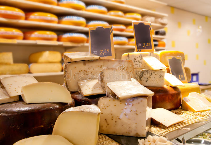 Cheese shop stock photos