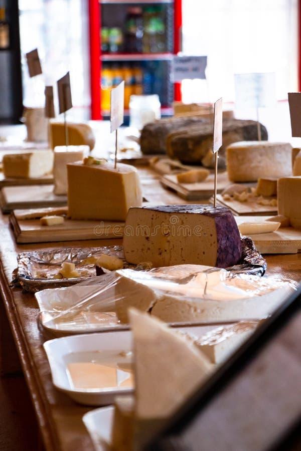 Cheese shop of San Antonio de las Minas, fine dinning and diairy products royalty free stock photo