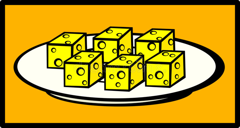 Download Cheese Snack Dish Vector Illustration Stock Vector - Illustration of yellow, dish: 6252510