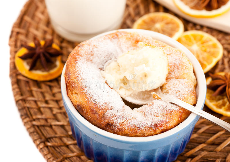 Download Cheese Souffle And A Glass Of Milk Stock Image - Image: 25451099