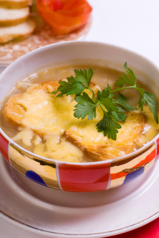 Free Cheese Soup With Croutons Royalty Free Stock Image - 9819176