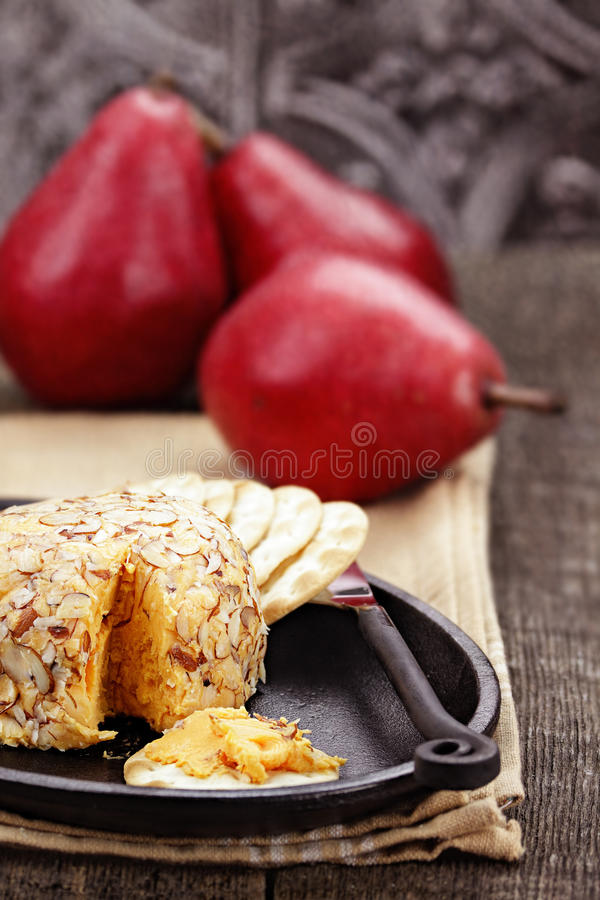 Free Cheese Spread And Pears Royalty Free Stock Photo - 35041305