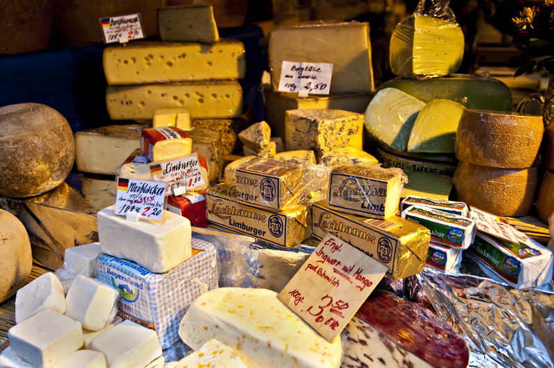 Cheese stand royalty free stock image