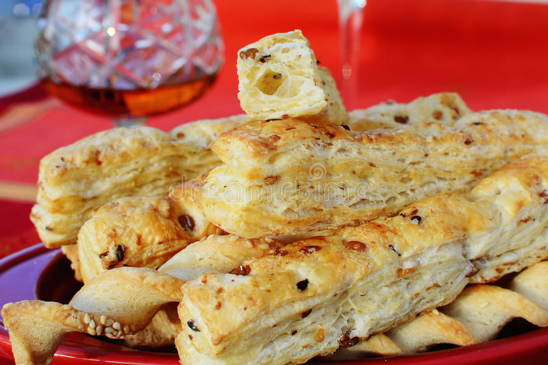 Cheese sticks crackers royalty free stock image