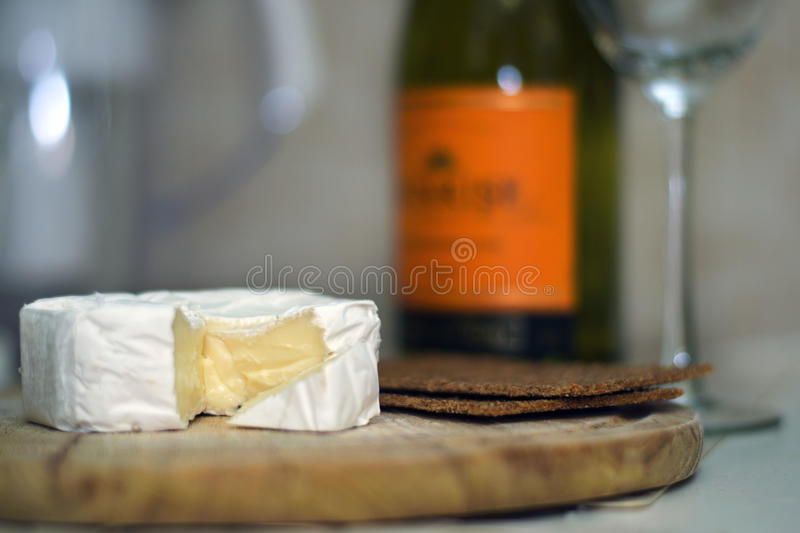 The cheese to wine royalty free stock images