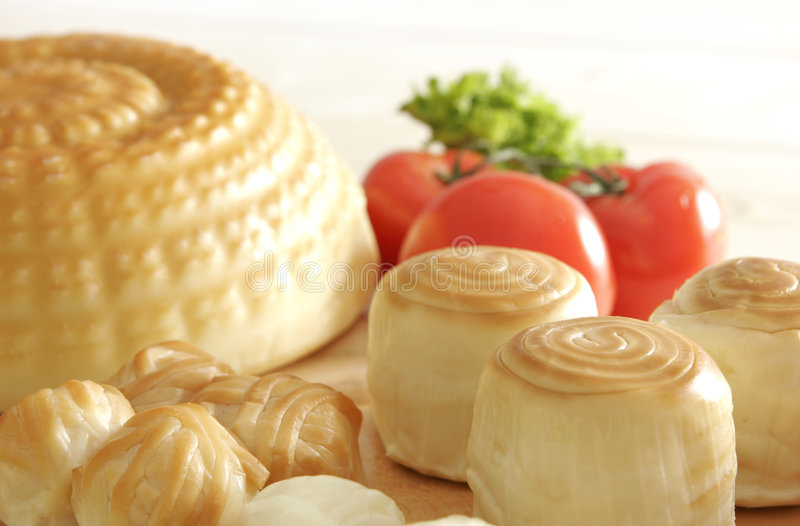 Cheese and tomatos royalty free stock images