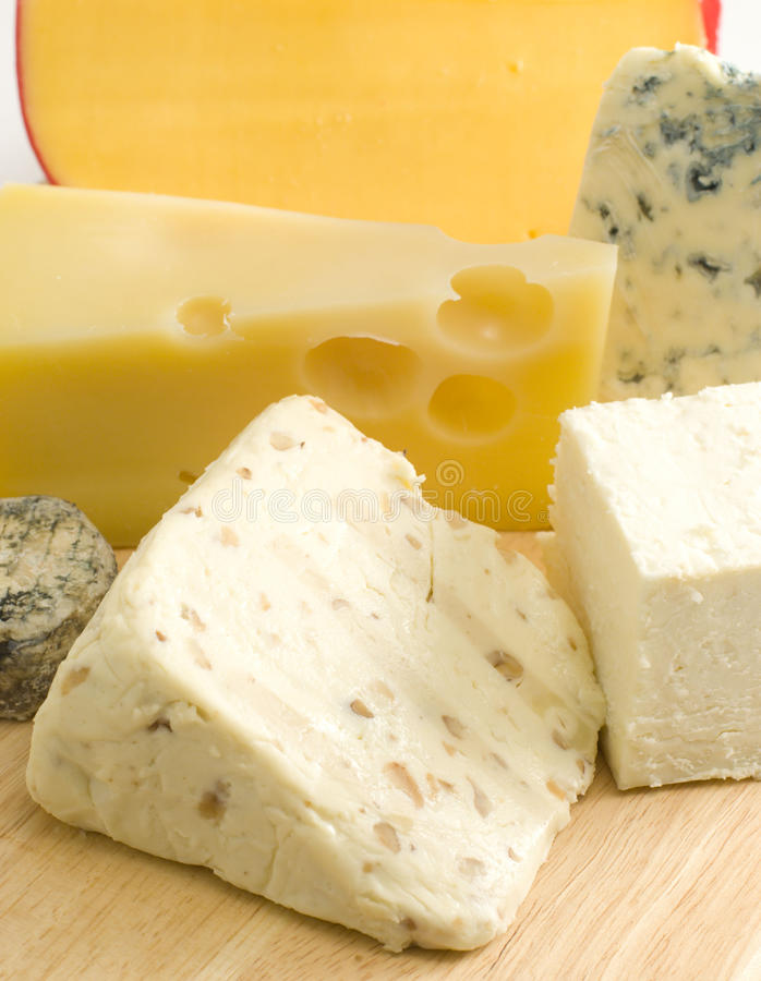 Cheese variates royalty free stock image