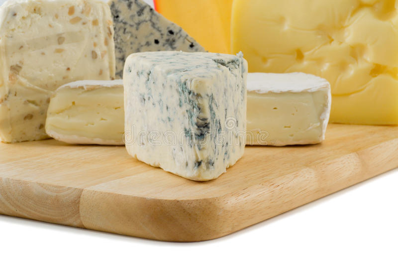 Cheese variates stock photos