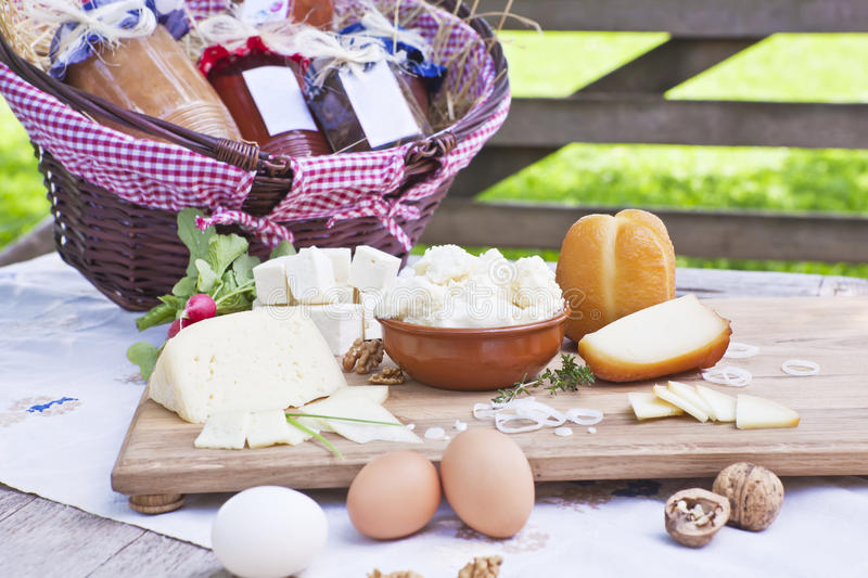 Download Cheese variation. stock photo. Image of eggs, cheese - 19589262
