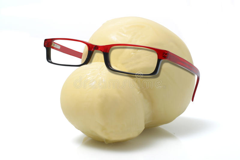 Cheese Wearing Glasses stock photo