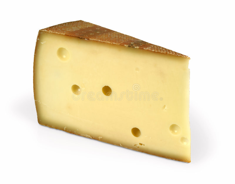 Cheese wedge royalty free stock photo