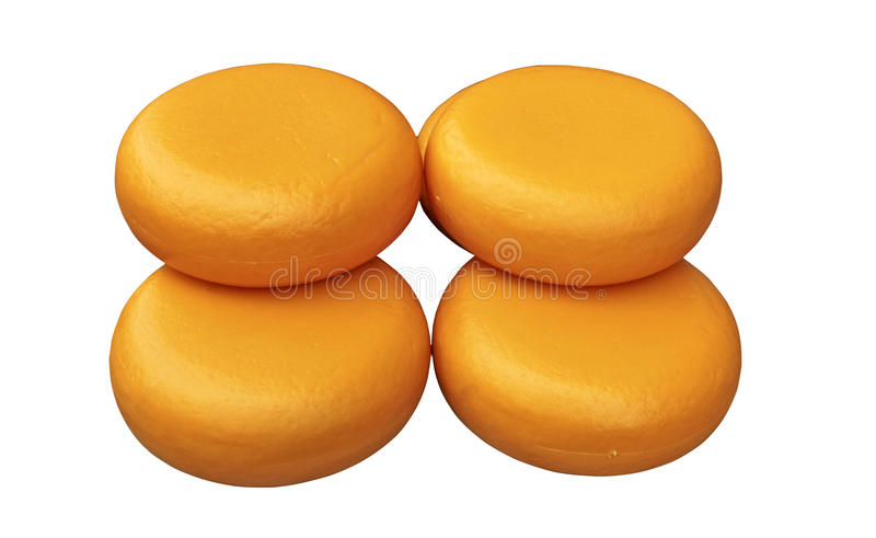 Cheese wheels isolated. On a white background royalty free stock photography