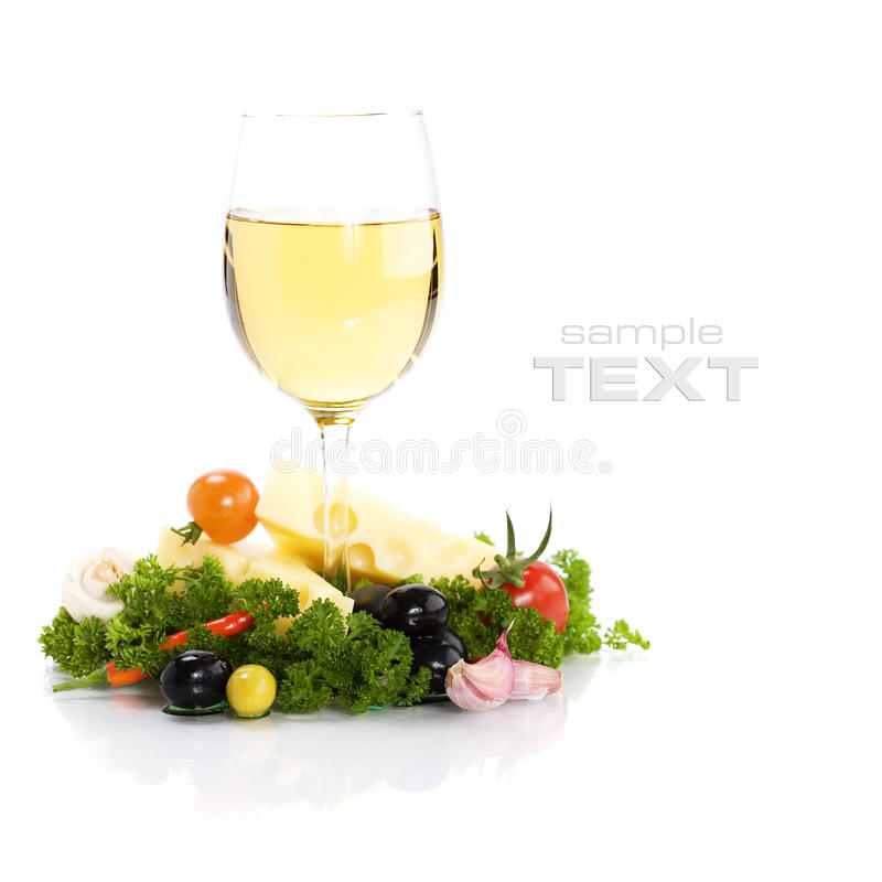 Download Cheese and white wine stock image. Image of restaurant - 13636151