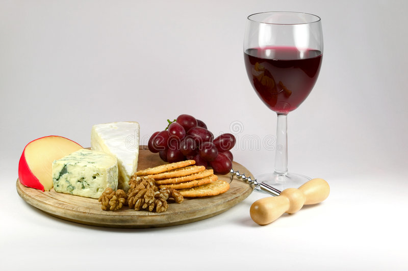 Cheese and Wine stock photos