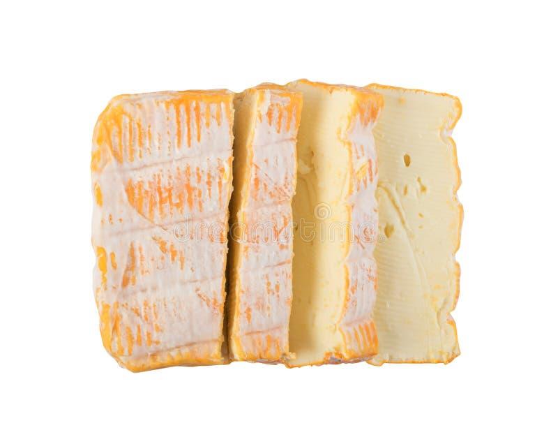 Cheeseboard com fim amarelo cortado do queijo de Limburger acima fotos de stock royalty free