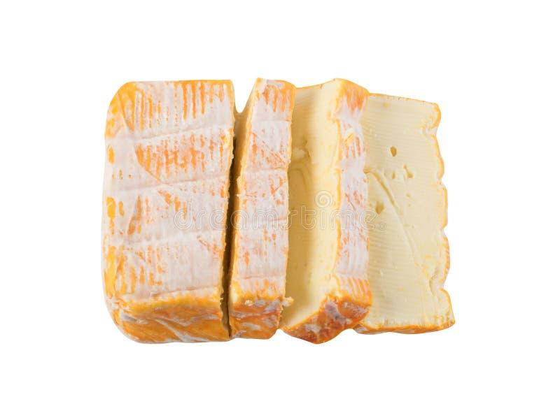 Cheeseboard met de Gesneden Gele dicht omhoog Kaas van Limburger stock afbeelding