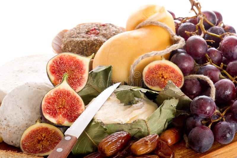 cheeseboard serowe owoc obrazy stock
