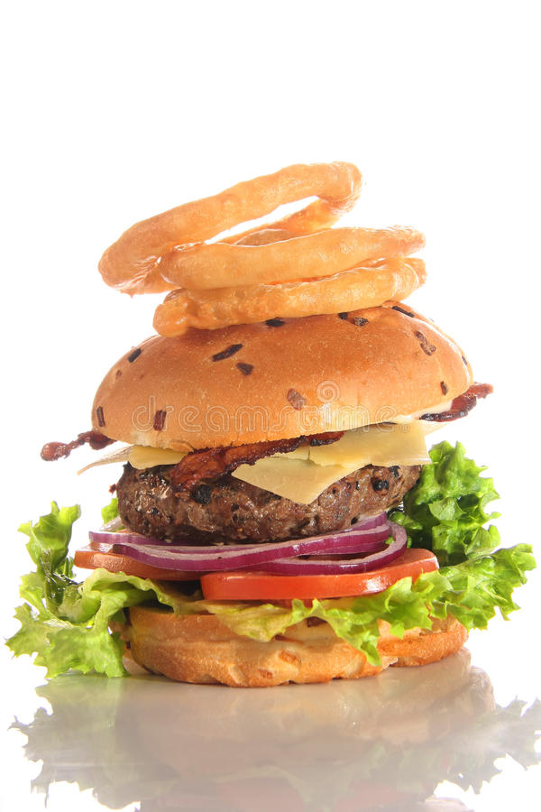 Cheeseburger lizenzfreie stockfotos
