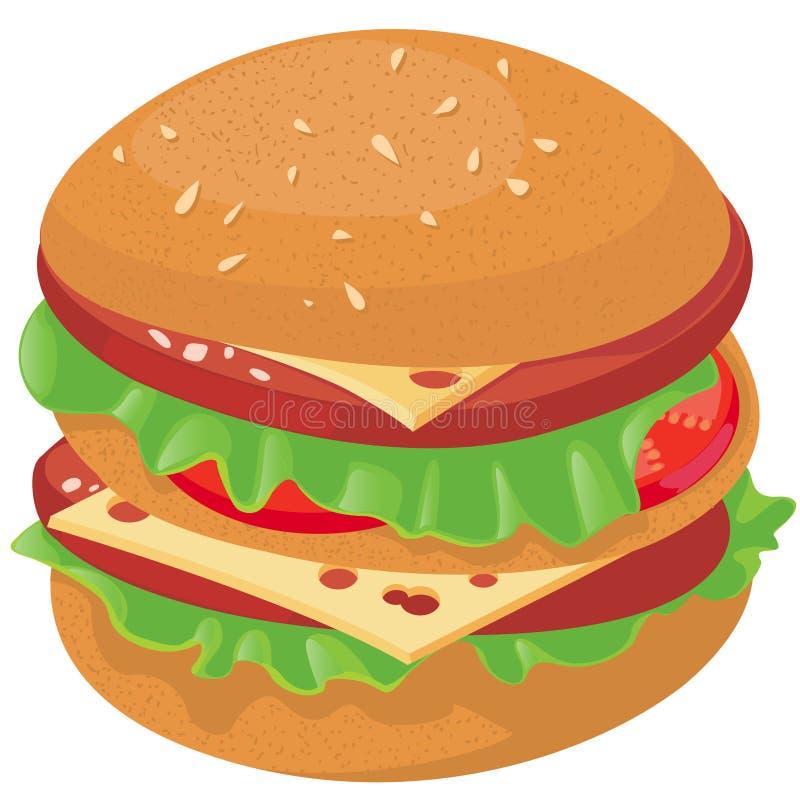Cheeseburger illustration stock