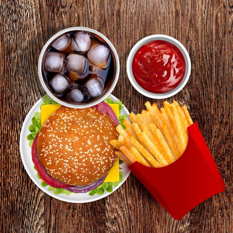 Cheeseburger stock afbeeldingen