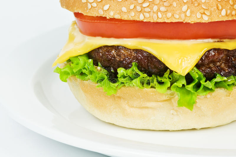 Cheeseburger photographie stock