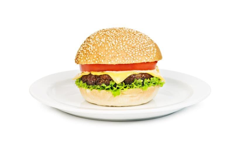 Cheeseburger stockfotos