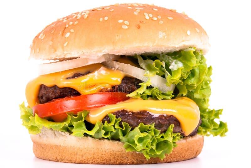 Cheeseburger stockbild